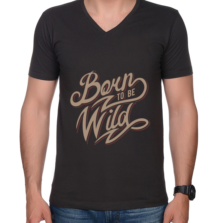 T-shirt męski z nadrukiem Born to Be Wild